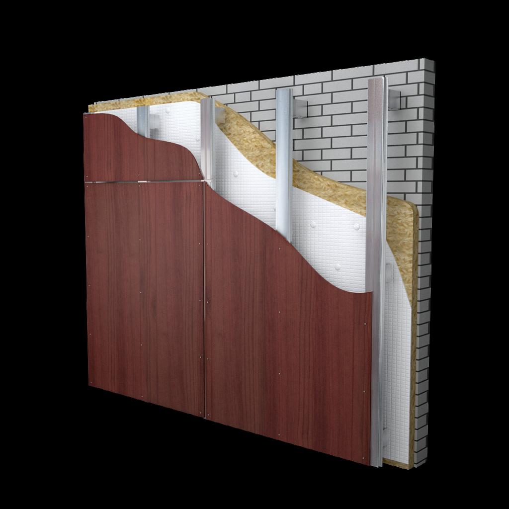 Подсистема для вентилируемых фасадов из hpl панелей