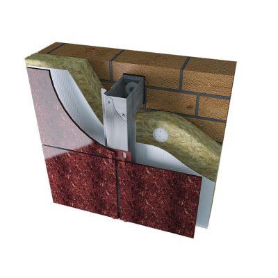 Фасадная система для крепления керамогранита